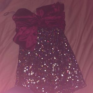 Mini multi-color sequin dress